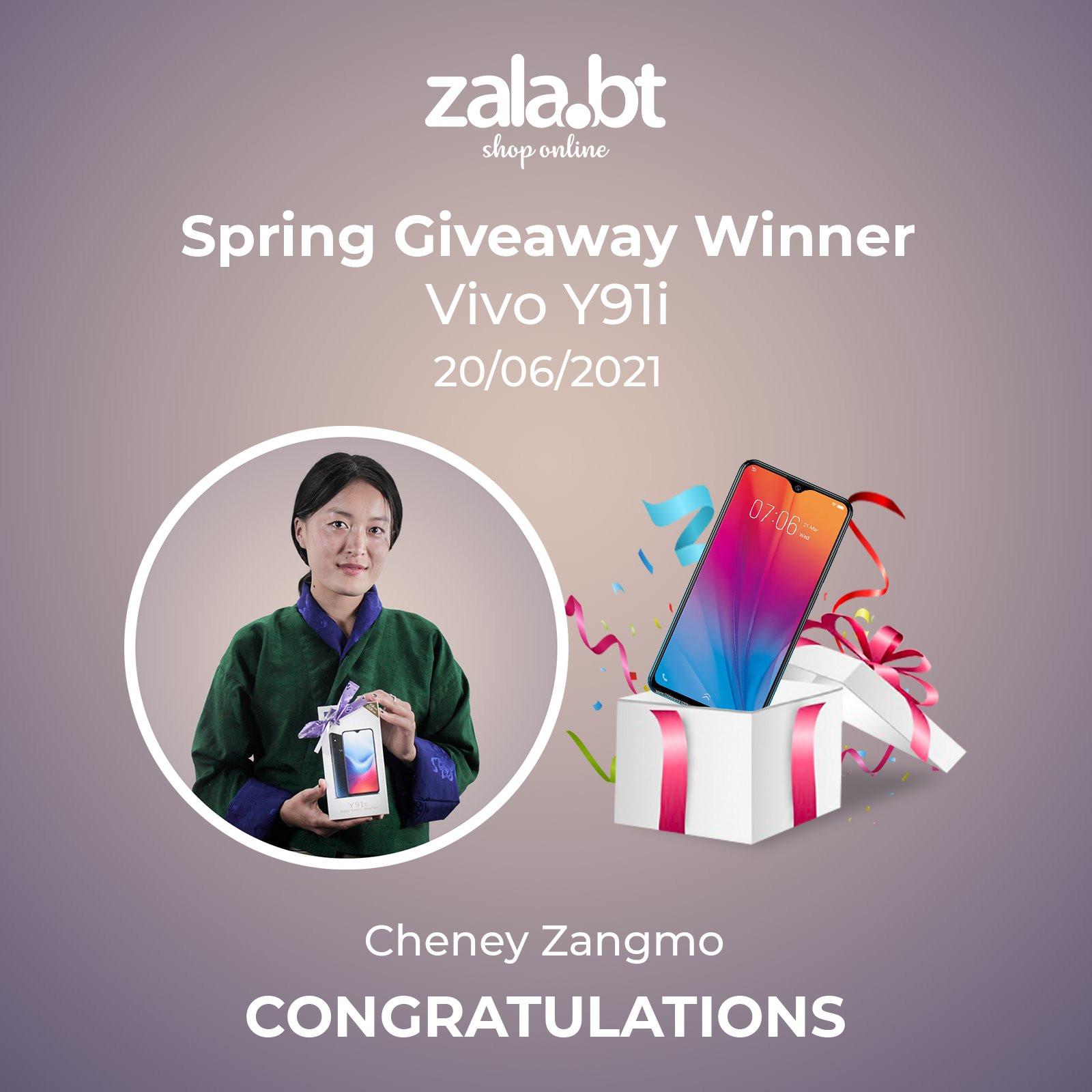Zala.bt Spring Giveaway 1st Lucky winner