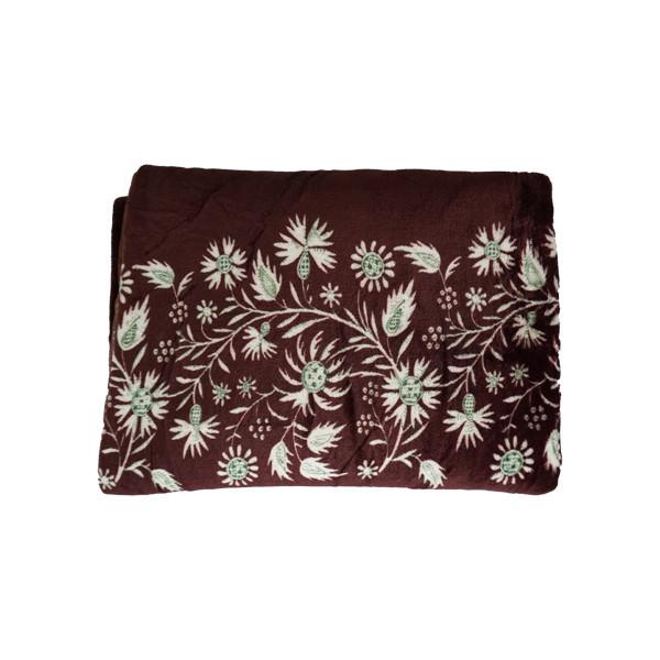 Brown Fleece Blanket Double