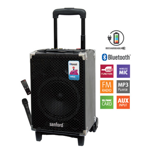 Sanford Protable Trolley Speaker	SF2257PTS